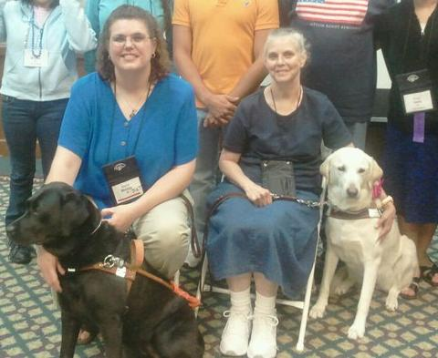 Guide dog presentation with Kacie Weldy & Rei and Clara French & Landria