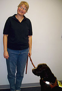 Karen Bailey and Her Guide Dog